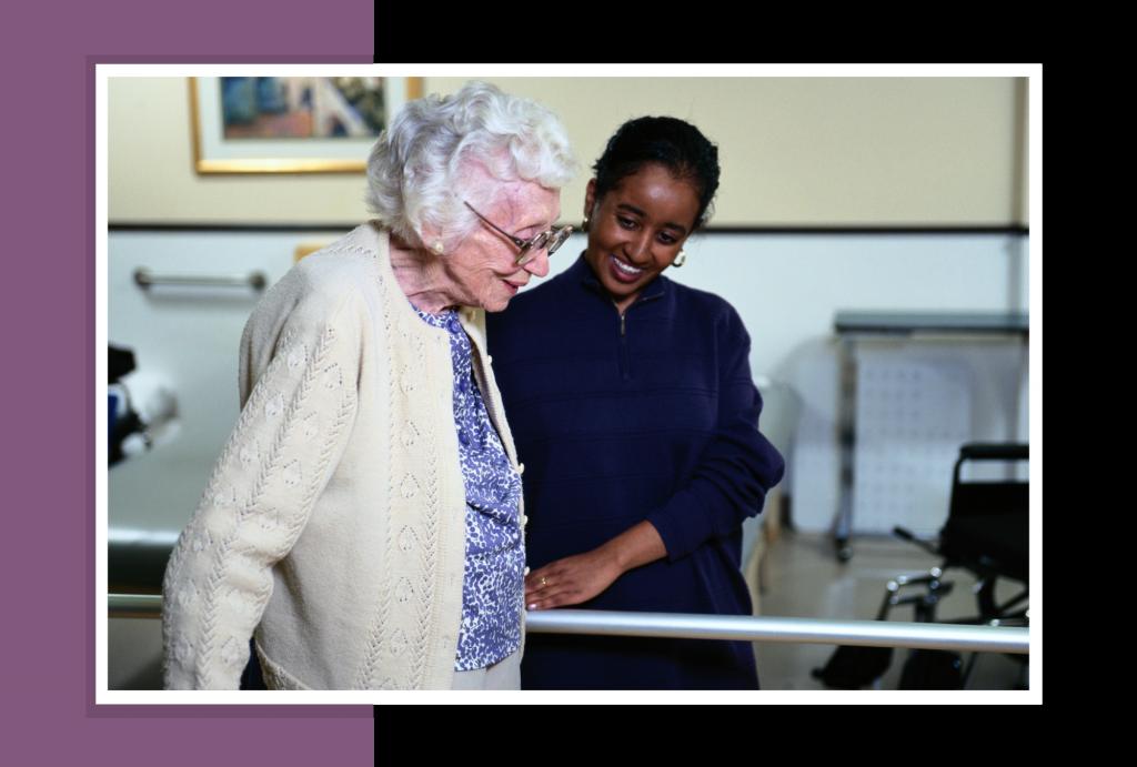 Younger women taking care of an elderly women